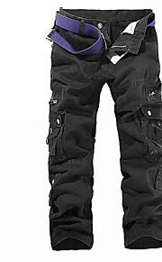 Ανδρικά Βασικό Chinos / Φορέματα φορτίου Παντελόνι - Μονόχρωμο Γκρίζο / Αθλητικά