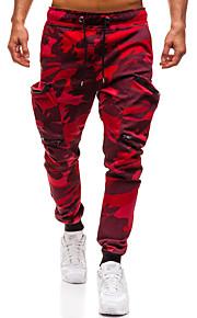 男性用 ベーシック / ストリートファッション チノパン / スウェットパンツ パンツ - 幾何学模様 レインボー