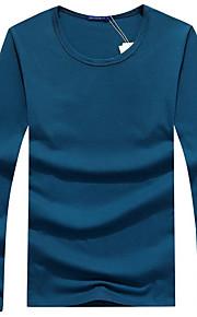 男性用 Tシャツ ラウンドネック ソリッド / 長袖