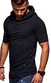 Hombre Básico Delgado Pantalones - Un Color Negro / Con Capucha / Manga Larga