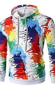 Hombre Básico Corte Ancho Pantalones - Bloques / camuflaje Arco Iris / Con Capucha / Manga Larga / Otoño / Invierno