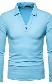 男性用 Polo シャツカラー ソリッド / 長袖
