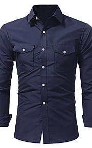 男性用 シャツ 活発的 / ベーシック ソリッド