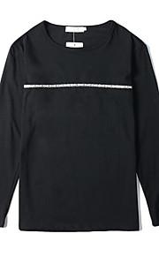 Hombre / Mujer Camiseta, Escote Redondo Letra Blanco XL / Manga Larga