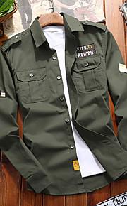 男性用 刺繍 シャツ ベーシック レタード