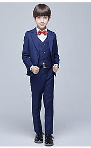 Σκούρο Μπλε Μαρέν POLY Κοστούμι για Αγοράκι με Βέρες - 3 Κομμάτια  Περιλαμβάνει Σακάκι   Γιλέκο 3e604175220