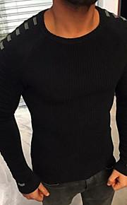 Ανδρικά Καθημερινά Βασικό Συνδυασμός Χρωμάτων Μακρυμάνικο Κανονικό Πουλόβερ Μαύρο / Βαθυγάλαζο / Πράσινο Χακί XL / XXL / XXXL