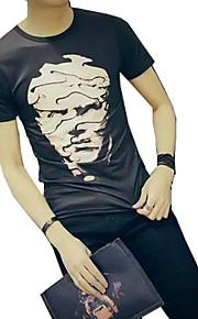 男性用 Tシャツ ベーシック / ストリートファッション 幾何学模様 / ポートレート