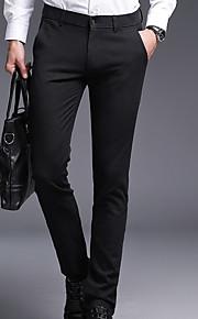 男性用 ベーシック プラスサイズ チノパン パンツ - ソリッド ブルー