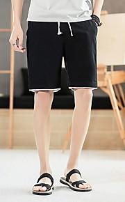 男性用 プラスサイズ ショーツ パンツ - カラーブロック グレー