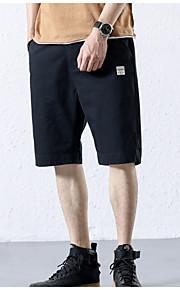 男性用 アジア人サイズ ショーツ パンツ - カラーブロック グリーン