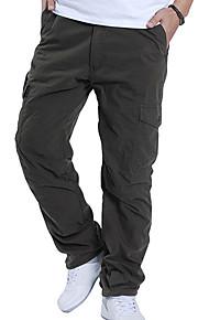 男性用 ベーシック プラスサイズ ルーズ チノパン / カーゴパンツ パンツ - ソリッド ブラック