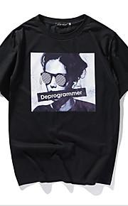 男性用 Tシャツ ラウンドネック スリム ポートレート / 半袖