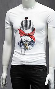 メンズTシャツ - ラウンドネックの肖像