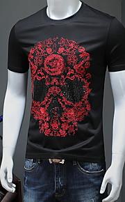 メンズTシャツ - スカルラウンドネック