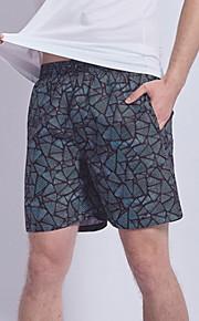 男性用 ブラック スイミングトランクス ボトムス スイムウェア - 幾何学模様 XL XXL XXXL ブラック
