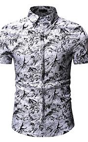 男性用 プリント シャツ ベーシック 幾何学模様