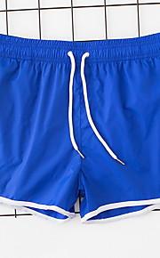 男性用 グレー Light Blue ネービーブルー スイミングトランクス ボトムス スイムウェア - ソリッド XL XXL XXXL グレー