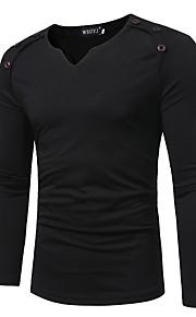 男性用 Tシャツ Vネック ソリッド