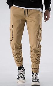 Erkek Temel Kargo pantolon Pantolon - Solid Açık Kahverengi