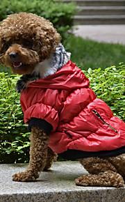 Σκυλιά Παλτά Ρούχα για σκύλους Μονόχρωμο Κόκκινο   Πράσινο   Μαύρο Τερυλίνη  Στολές Για κατοικίδια Άνδρας 0ec497ef19a