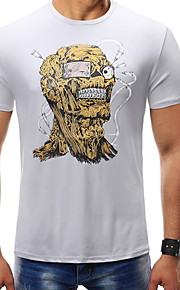 男性用 Tシャツ ラウンドネック カートゥン