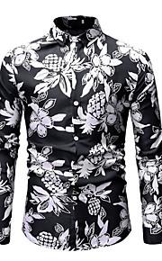 男性用 プリント シャツ 幾何学模様