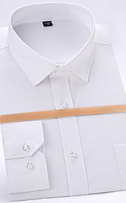 男性用 パッチワーク シャツ ソリッド
