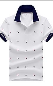 Ανδρικά Polo Πουά Λευκό XXL