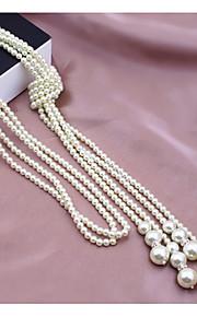 Dámské Náhrdelník umělecké Půvab Bílá 40 cm Náhrdelníky Šperky 1ks Pro Denní