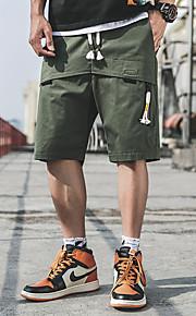 Hombre Básico / Militar Chinos / Shorts Pantalones - Un Color Verde Trébol