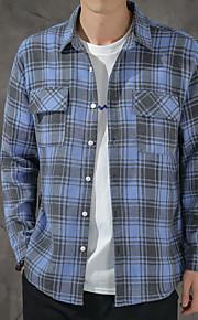 Муж. Рубашка Гусиная лапка Зеленый L