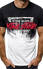 Ανδρικά T-shirt Γράμμα Θαλασσί XL