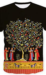 Hombre Camiseta Gráfico Negro XL