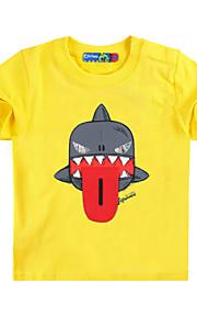 Děti Chlapecké Aktivní / Základní Tisk Tisk Krátký rukáv Bavlna / Spandex Košilky Žlutá