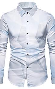 Skjorte Herre - Grafisk, Trykt mønster Lyseblå XL