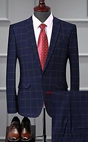 Hombre trajes Solapa Redonda Poliéster Azul Piscina L / XL / XXL