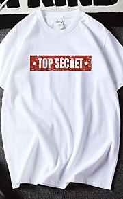 Hombre Estampado Camiseta Geométrico / Gráfico / Letra Blanco XL