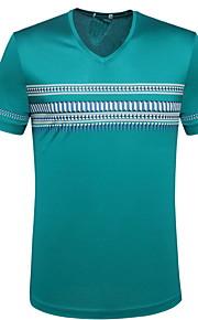 Ανδρικά T-shirt Γεωμετρικό Πράσινο του τριφυλλιού L