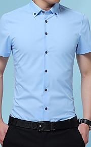 Heren Overhemd Grafisch Zwart XXXL
