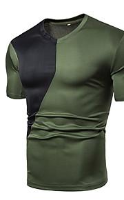 T-skjorte Herre - Ensfarget, Lapper Hvit XL