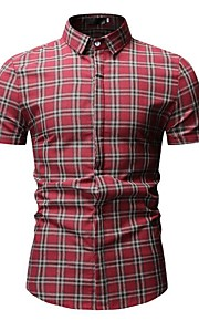 camisa de hombre - cheque camisa cuello