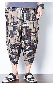 Hombre Chic de Calle Chinos Pantalones - Estampado Marrón