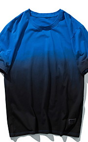 Hombre Camiseta Bloques Fucsia XL