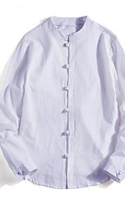 Heren Overhemd Effen Wit XXXL