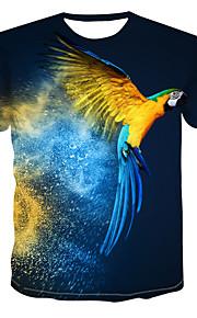 Hombre Estampado Camiseta Bloques / 3D / Animal Azul Real XXXXL