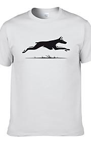 Ανδρικά T-shirt Ζώο Γκρίζο L