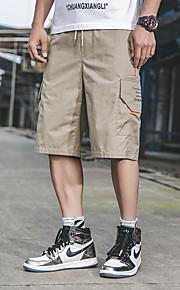 Hombre Básico / Militar Chinos / Shorts Pantalones - Un Color Negro