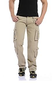 Hombre Básico Chinos Pantalones - Un Color / Estampado Amarillo