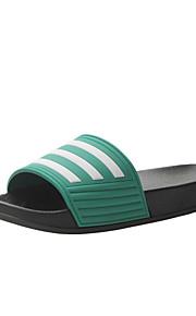 여성용 구두 PVC 여름 슬리퍼 플립 플롭 플랫 일상 용 블랙 / 그린